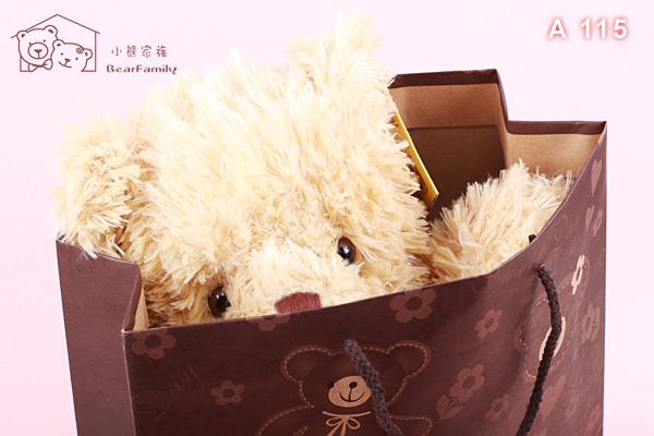 A115 小熊傳情手提袋 中型