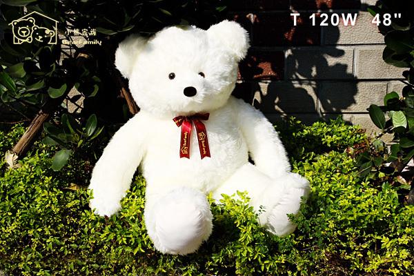 白色超大型120cm手工正牌泰迪熊