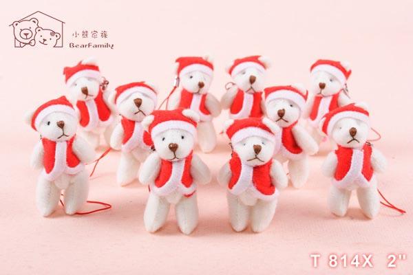 T814X 迷你聖誕小熊 每組12隻