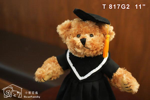 T817G2 畢業生泰迪熊 +【小熊手提袋】