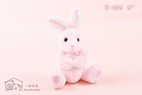 R405 白色、粉紅色小兔一對