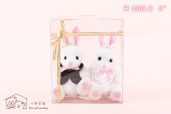 AH305-2 婚紗小兔一對